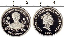 Изображение Монеты Великобритания Гернси 1 фунт 1995 Серебро Proof