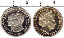 Изображение Монеты Гернси 1 фунт 1999 Серебро Proof