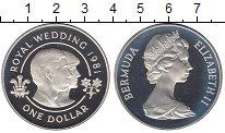 Изображение Монеты Великобритания Бермудские острова 1 доллар 1981 Серебро Proof-