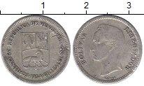 Изображение Монеты Южная Америка Венесуэла 25 сентим 1954 Серебро XF
