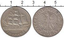 Изображение Монеты Польша 5 злотых 1936 Серебро XF 15-летие морского по