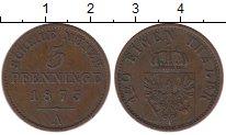 Изображение Монеты Германия Пруссия 3 пфеннига 1873 Медь XF