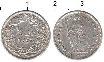 Изображение Монеты Швейцария 1/2 франка 1952 Серебро XF
