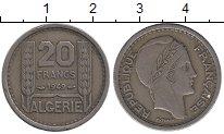 Изображение Монеты Алжир 20 франков 1949 Медно-никель XF
