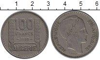 Изображение Монеты Алжир 100 франков 1950 Медно-никель XF Протекторат  Франции