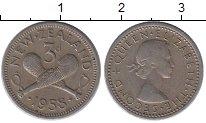 Изображение Монеты Австралия и Океания Новая Зеландия 3 пенса 1958 Медно-никель XF