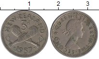 Изображение Монеты Новая Зеландия 3 пенса 1957 Медно-никель XF