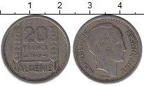 Изображение Монеты Алжир 20 франков 1949 Медно-никель XF Протекторат  Франции