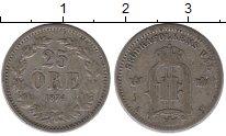 Изображение Монеты Европа Швеция 25 эре 1874 Серебро XF