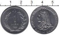 Изображение Монеты Азия Турция 1 лира 1980 Медно-никель UNC-