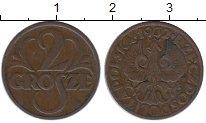 Изображение Монеты Польша 2 гроша 1932 Медь VF