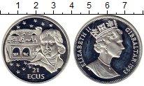 Изображение Монеты Гибралтар 21 экю 1993 Серебро Proof Евротуннель. Проект