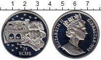 Изображение Монеты Гибралтар 21 экю 1993 Серебро Proof