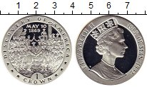 Изображение Монеты Великобритания Остров Мэн 1 крона 1992 Серебро Proof-