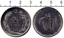 Изображение Монеты Азия Турция 2 1/2 лиры 1977 Медно-никель UNC-