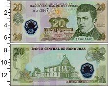Изображение Банкноты Гондурас 20 лемпир 2008  UNC