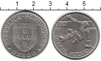Изображение Монеты Европа Португалия 25 эскудо 1982 Медно-никель UNC-