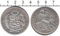 Изображение Монеты Южная Америка Перу 1 соль 1894 Серебро XF