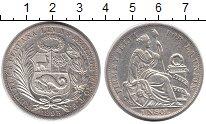 Изображение Монеты Перу 1 соль 1895 Серебро XF