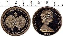 Изображение Монеты Великобритания Остров Мэн 1 крона 1981 Медно-никель Proof-