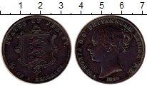 Изображение Монеты Великобритания Остров Джерси 1/12 шиллинга 1858 Медь XF
