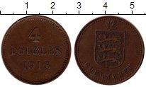 Изображение Монеты Великобритания Гернси 4 дубля 1918 Медь XF