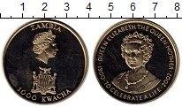 Изображение Монеты Африка Замбия 1000 квач 2002 Медно-никель Proof