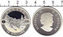 Изображение Монеты Канада 10 долларов 2014 Серебро Proof Елизавета II.  Горно