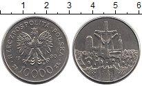 Изображение Монеты Польша 10000 злотых 1990 Медно-никель XF