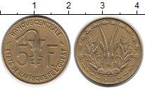Изображение Монеты Западная Африка 5 франков 1968 Латунь XF