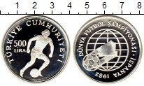 Изображение Монеты Азия Турция 500 лир 1982 Серебро Proof