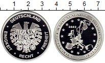 Изображение Монеты Германия Медаль 2002 Посеребрение Proof Евросоюз