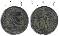 Изображение Монеты Древний Рим 1 фоллис 0 Биллон XF Констанций I