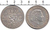 Изображение Монеты Нидерланды 2 1/2 гульдена 1966 Серебро XF