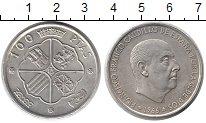 Изображение Монеты Европа Испания 100 песет 1966 Серебро XF
