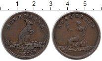 Изображение Монеты Австралия 1/2 пенни 1851 Медь XF