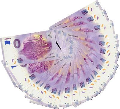 Изображение Банкноты Европа Набор из 32 бон номиналом 0 евро 2018  UNC