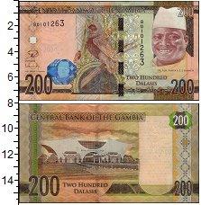 Изображение Банкноты Гамбия 200 даласи 2015  UNC