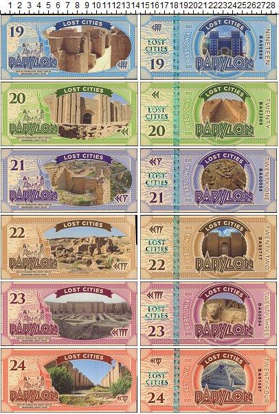 Изображение Банкноты Фантазийные выпуски Набор из 6 бон 0  UNC