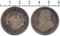 Изображение Монеты Африка ЮАР 2 шиллинга 1895 Серебро VF