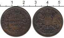 Изображение Монеты Азия Индия 1/4 анны 1835 Медь VF