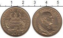 Изображение Мелочь Монако 10 франков 1989 Бронза UNC- Фонд принца Пьера