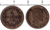 Изображение Монеты Дания 4 скиллинга 1856 Серебро VF