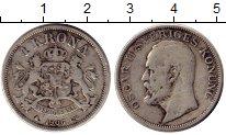 Изображение Монеты Европа Швеция 1 крона 1906 Серебро VF
