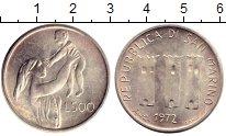 Изображение Монеты Сан-Марино 500 лир 1972 Серебро UNC- Женщина с младенцем
