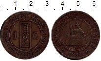 Изображение Монеты Индокитай 1 сантим 1887 Бронза XF