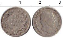 Изображение Монеты Нидерланды 10 центов 1881 Серебро VF