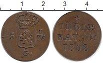 Изображение Монеты Нидерландская Индия 1/16 гульдена 1808 Медь XF