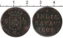 Изображение Монеты Нидерландская Индия 1/16 гульдена 1808 Медь XF-