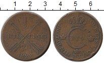 Изображение Монеты Европа Швеция 1 скиллинг 1828 Медь VF